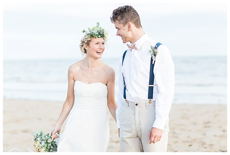 Organic Beach Wedding Shoot at Camber Sands