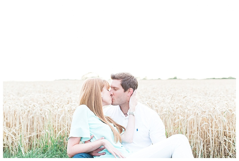 Cornfield Engagement Shoot at Sunset ~ Ben & Becky